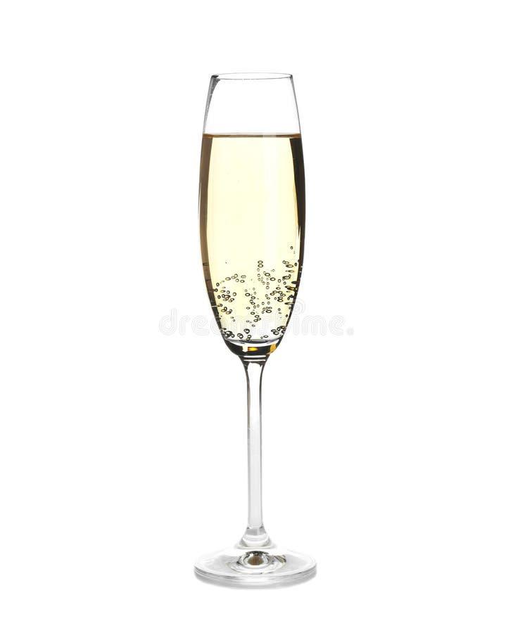 tła szampańskiego champange przepływu szklany odgórny biel obrazy stock