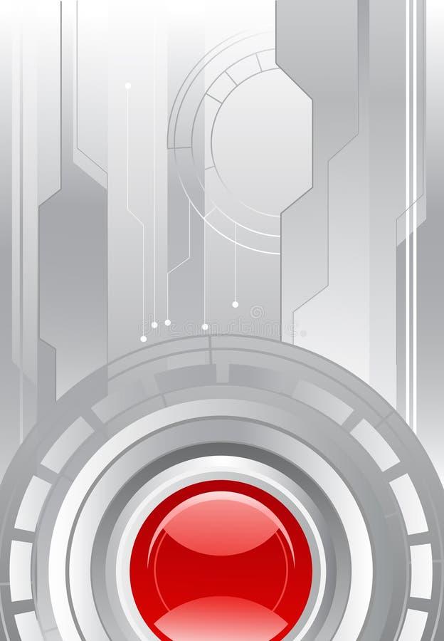 tła szara obiektywu czerwień ilustracji