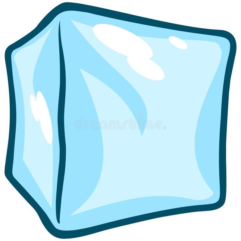 tła sześcianu lodu biel ilustracja wektor