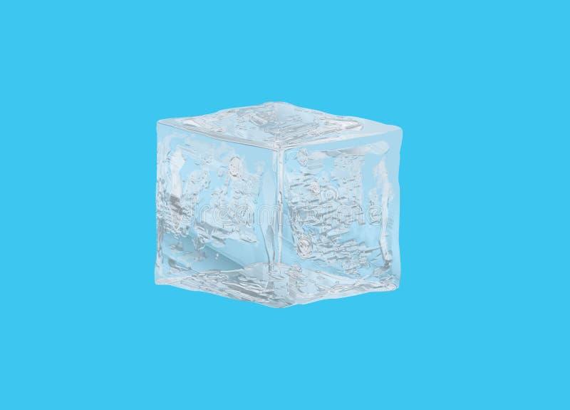 tła sześcianu lodu biel zdjęcie stock