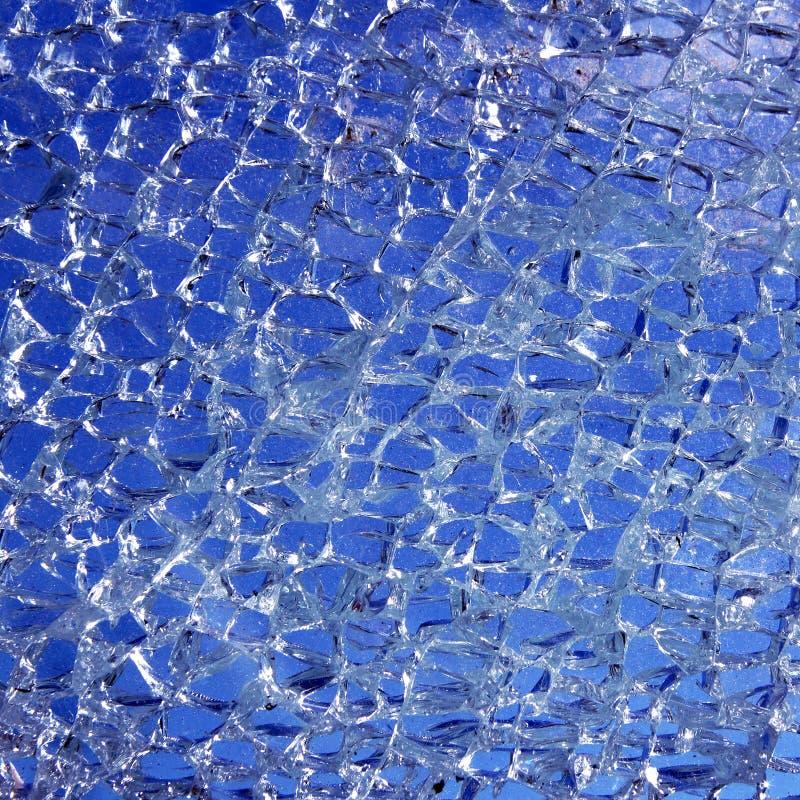 tła szkło błękitny łamający krakingowy zdjęcie royalty free