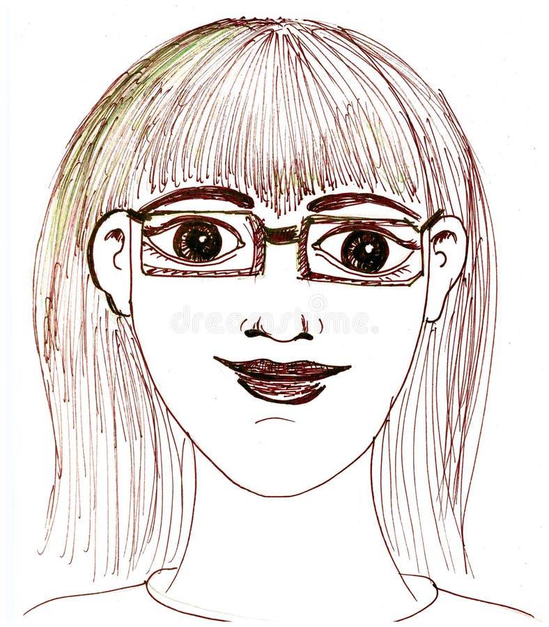 tła szkieł portreta strzału studia biała kobieta royalty ilustracja
