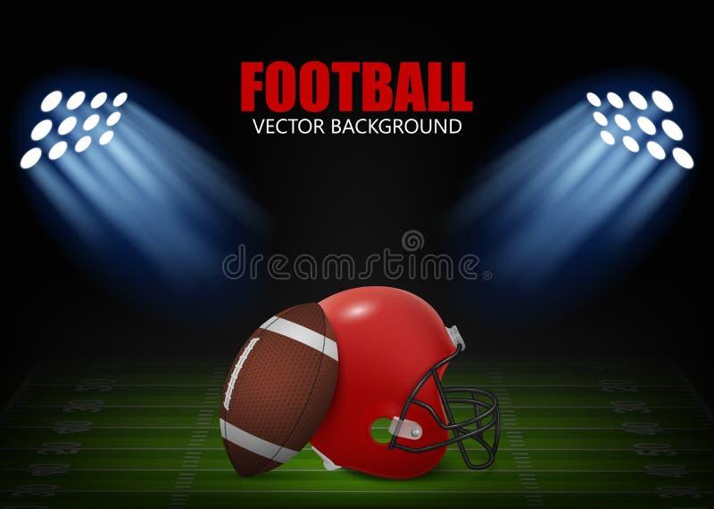 tła sztandarów projekta futbol trzy ty ilustracja wektor