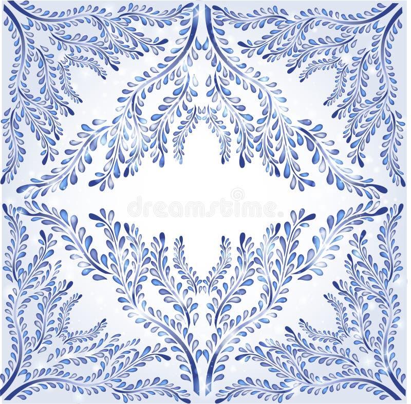 tła sztandaru stylu zima royalty ilustracja