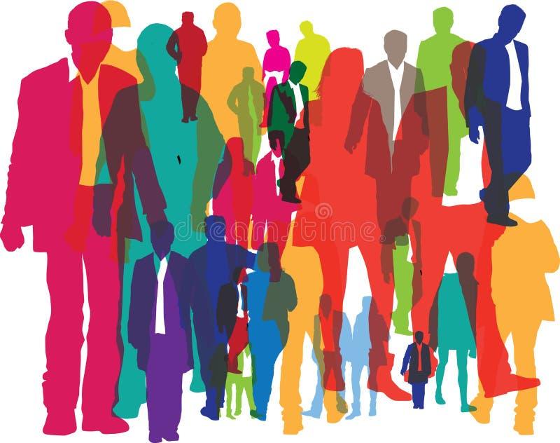 tła tłumów ludzie ilustracji
