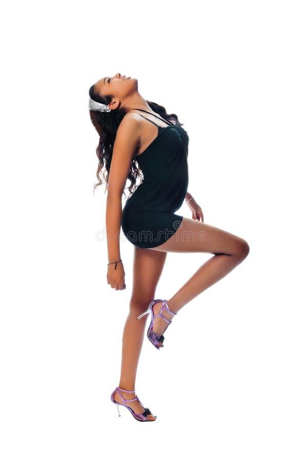 tła tancerz odizolowywający szczupły biel fotografia royalty free