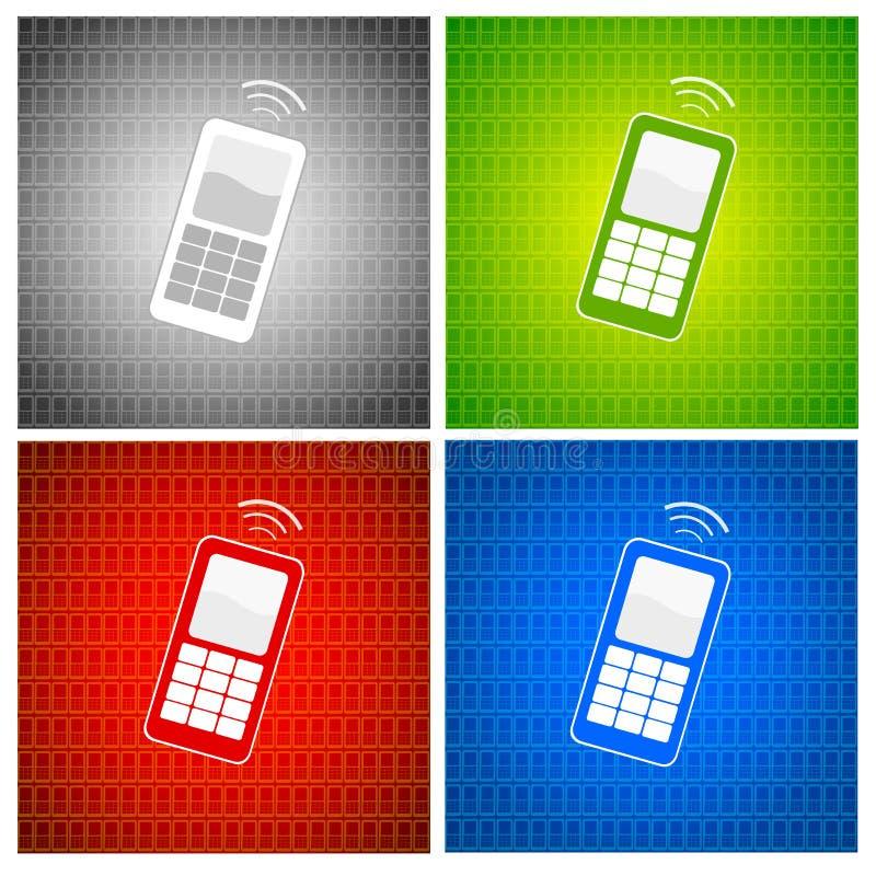 tła telefon komórkowy ilustracja wektor