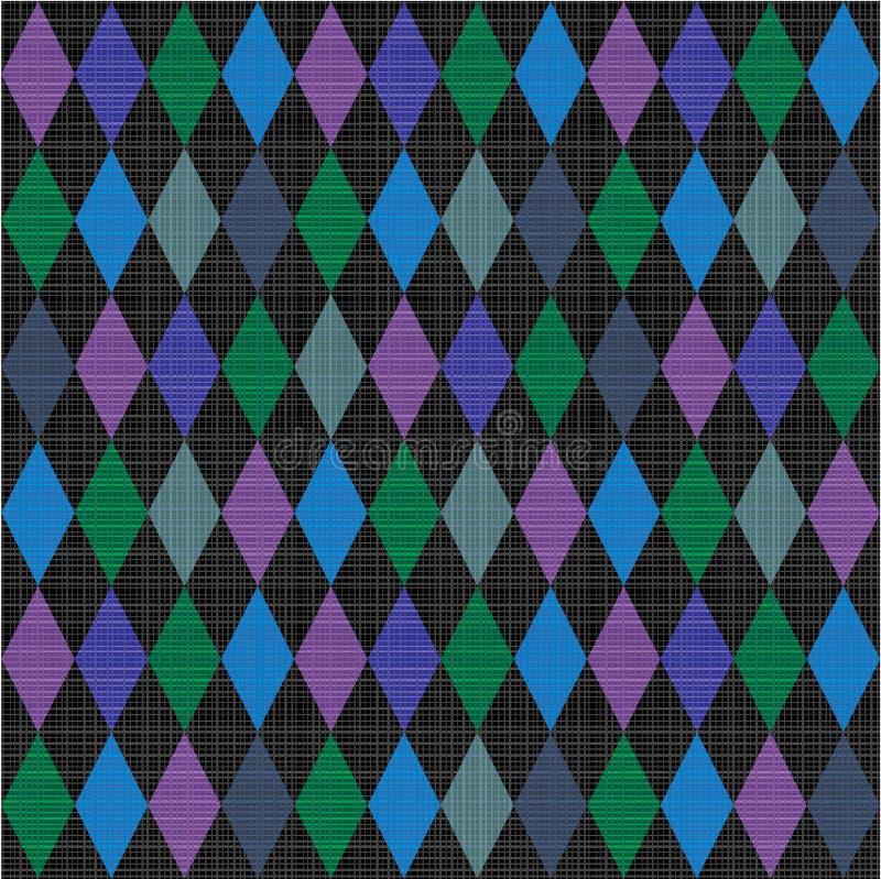 tła tkaniny arlekinu wzór bezszwowy ilustracji