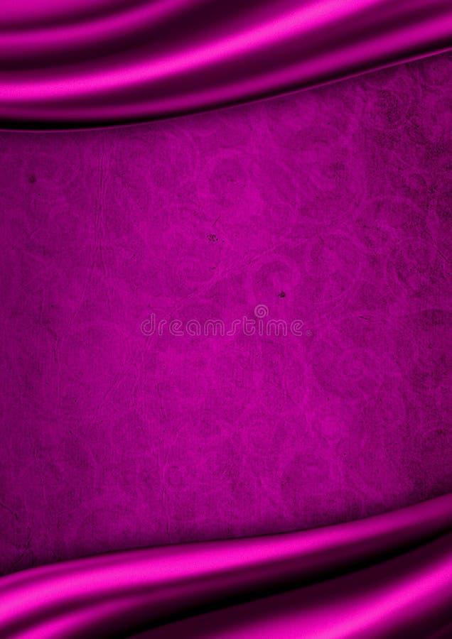 tła tkaniny purpur atłas royalty ilustracja