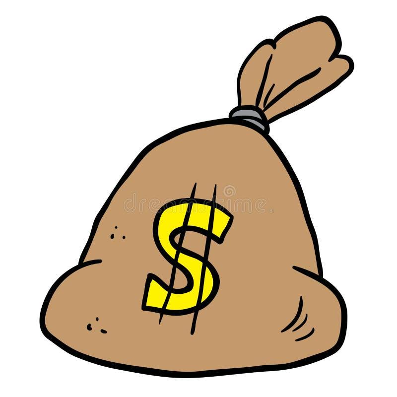 tła torby graficzny grunge wizerunku pieniądze wektor ilustracji