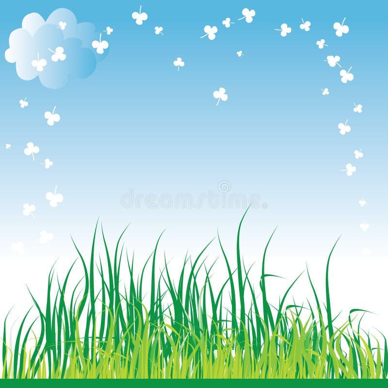 tła trawy wiosna royalty ilustracja