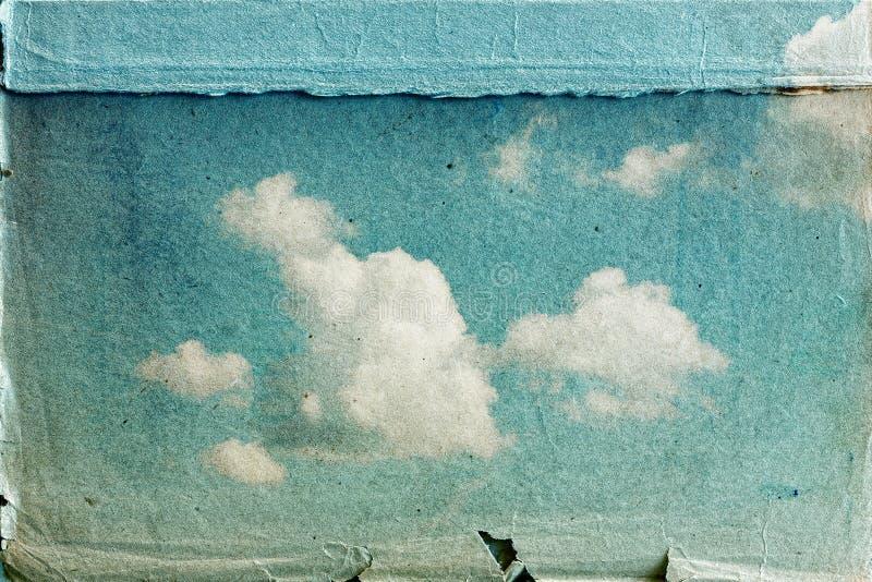 tła trawy zieleni natury stary papierowy nieba tekstury rocznik zdjęcie royalty free
