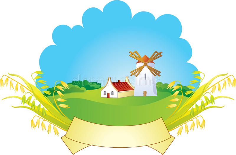 tła ucho wiejski wiatraczek royalty ilustracja