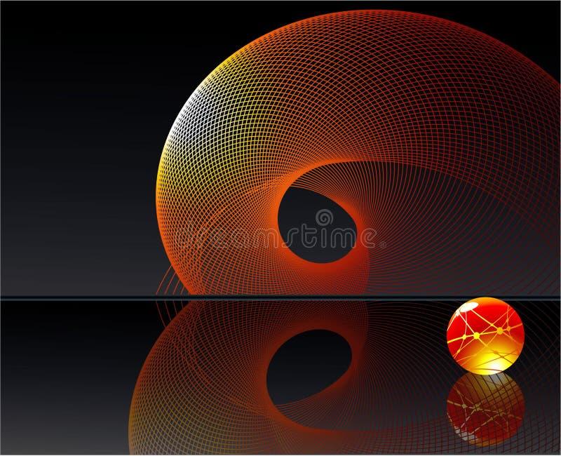 tła vortex ilustracja wektor
