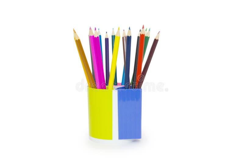 tła właściciela odosobneni ołówki biały zdjęcia royalty free