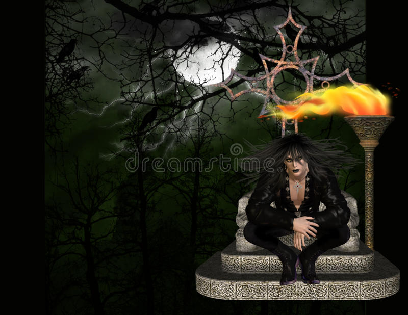 tła wampira drewna ilustracja wektor