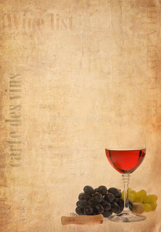 tła wino owocowy szklany stary papierowy zdjęcia stock