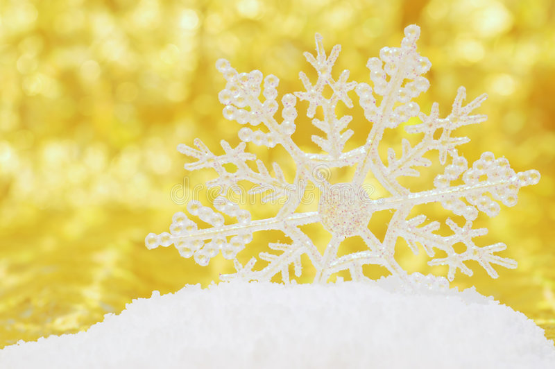 tła złota śniegu płatek śniegu obraz royalty free
