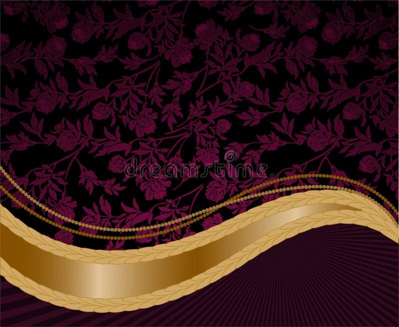 tła złota purpur fala ilustracja wektor