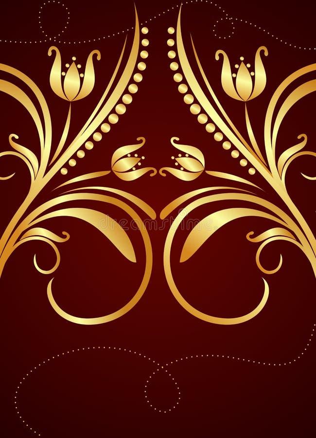 tła złoto ilustracja wektor
