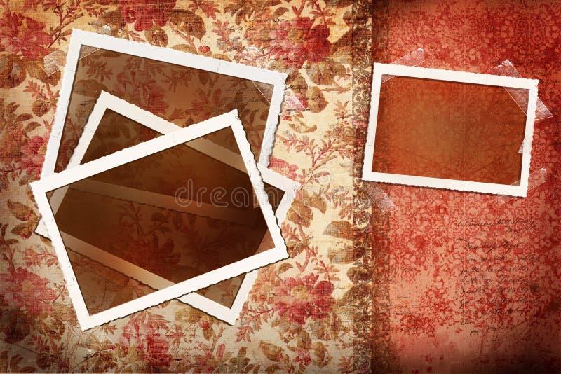 tła z antykami kwieciste zdjęcia ilustracji