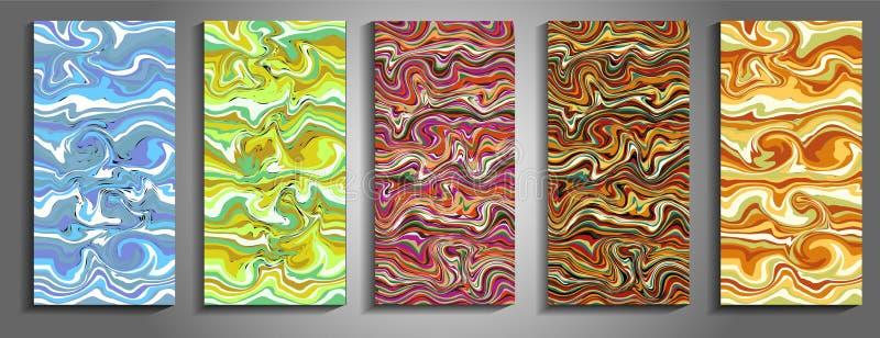 Tła z marmoryzacją kiedy było tła może pouczać tekstury marmurem użyć plusk farby Kolorowy fluid Ja może używać dla plakata, kart royalty ilustracja