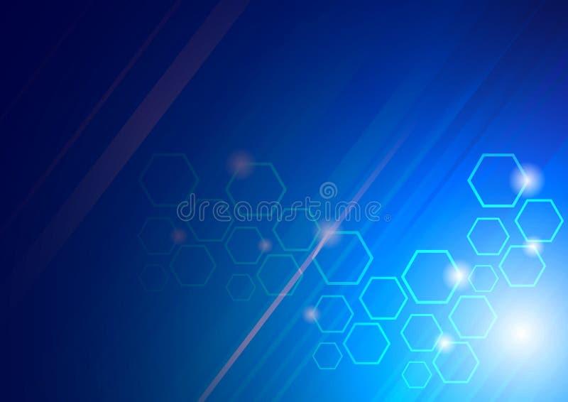 tła zaawansowany technicznie błękitny ilustracja wektor