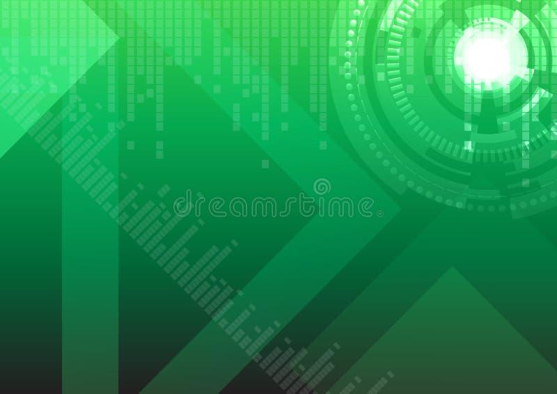 tła zaawansowany technicznie zielony ilustracja wektor