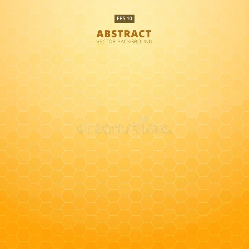 tła zamknięty honeycomb wizerunek zamknięty Abstrakcjonistyczny geometryczny sześciokąt pomarańcze backgrou royalty ilustracja