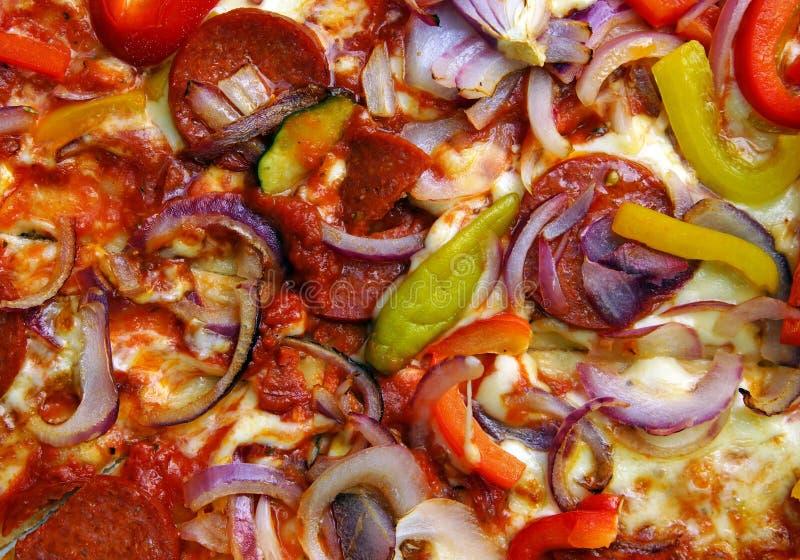 Włoski pizzy tło fotografia royalty free