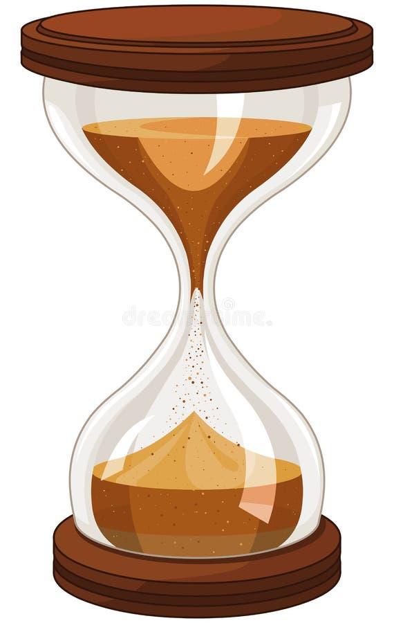 tła zegarowego obejmowania szary hourglass mężczyzna malował ciężarne piaska żołądka kobiety royalty ilustracja