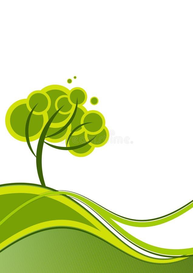 tła zieleni krajobraz royalty ilustracja