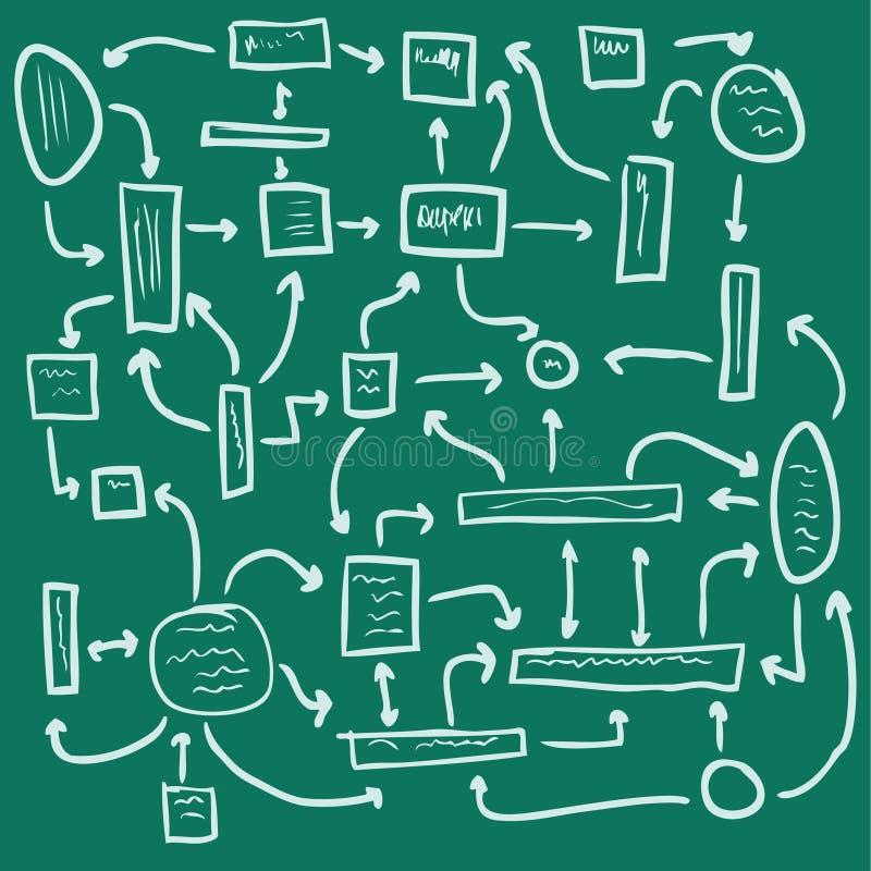 tła zielony zarządzania plan bezszwowy ilustracja wektor