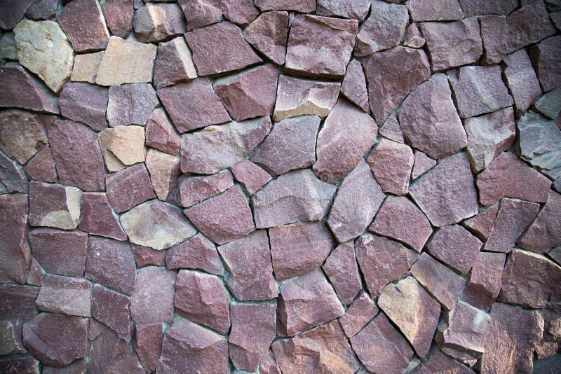 Tło ściana granitowi kamienie nieregularnego kształta lily kolor obraz stock
