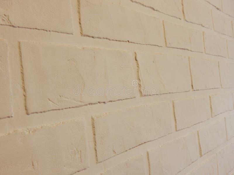 Tło ściana ten biały ceglany tynk zdjęcia royalty free