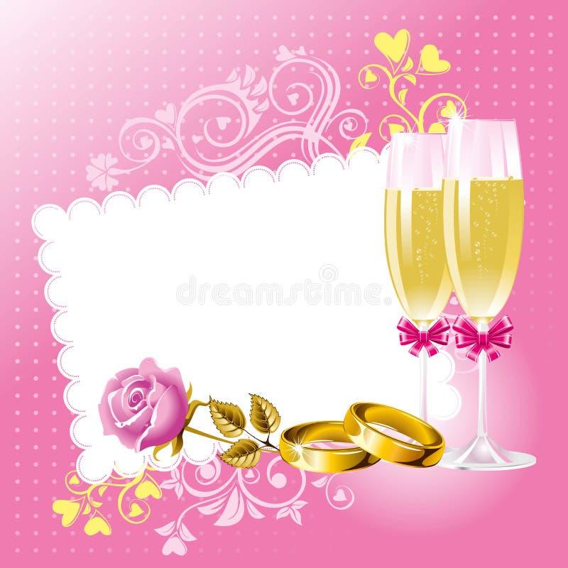 tło ślub ilustracja wektor
