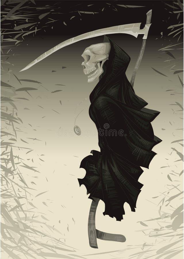 tło śmierć ilustracji