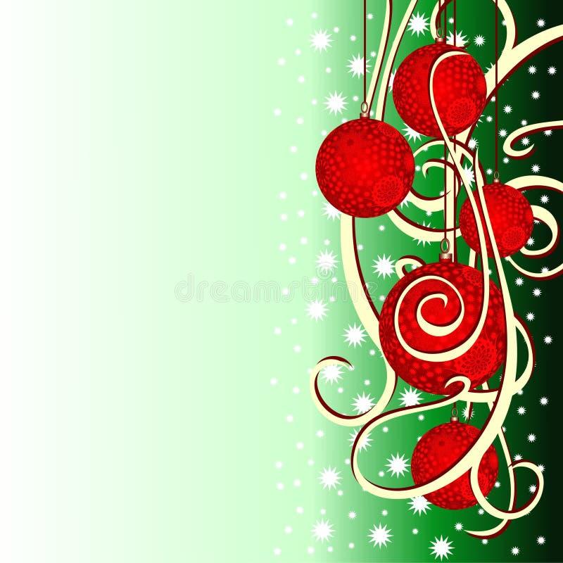 tło Świąt jedlinowi jaj royalty ilustracja