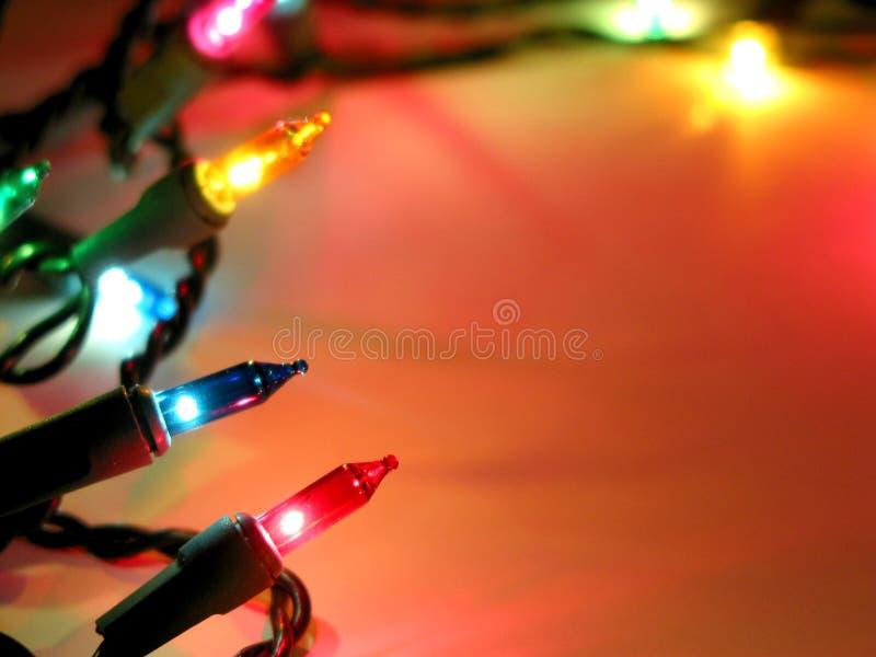 tło świąteczne lampki obrazy stock