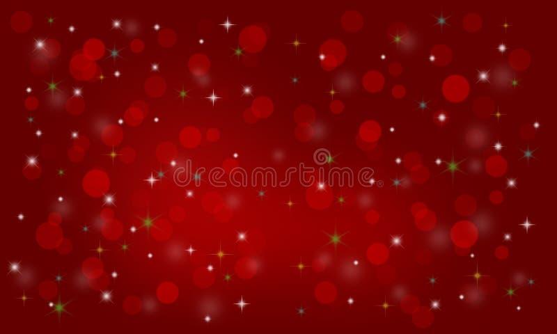 tło świąteczne lampki czerwony magii ilustracja wektor