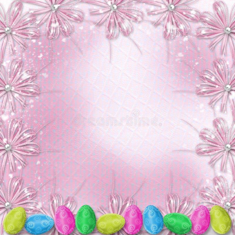 tło świętuje pastelowych Easter jajka royalty ilustracja
