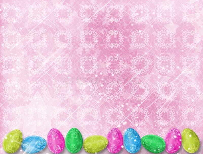 tło świętuje pastelowych Easter jajka ilustracja wektor