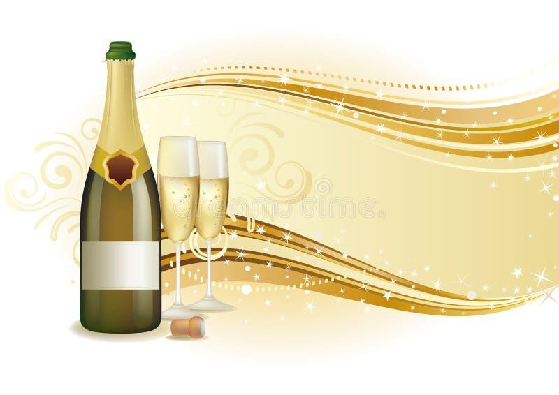 tło świętuje szampana royalty ilustracja