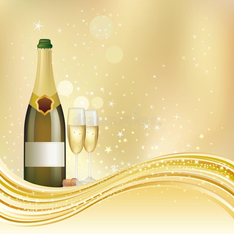 tło świętuje szampana ilustracji