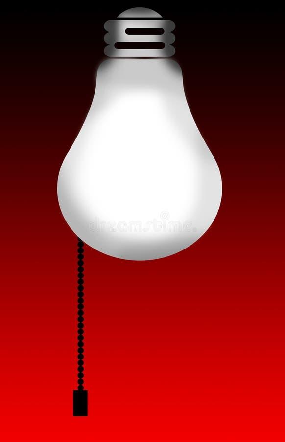 tło światła żarówki royalty ilustracja