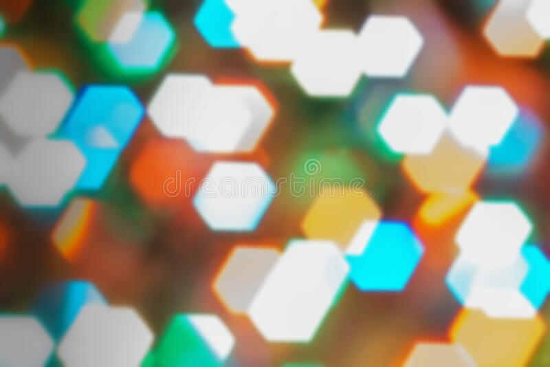 Tło światła przyrodniczego - bokeh święta Podświetlany wystrój fotografia stock