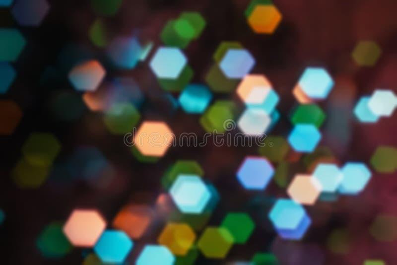 Tło światła przyrodniczego - bokeh święta Podświetlany wystrój zdjęcia stock