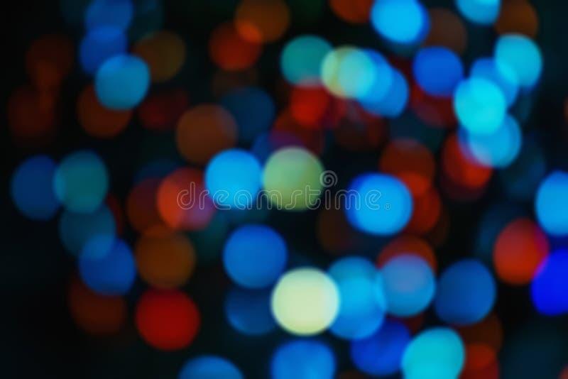 Tło światła przyrodniczego - bokeh święta Podświetlany wystrój zdjęcie royalty free