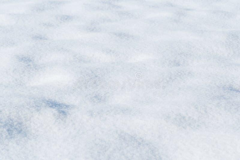 Tło świeża śnieżna tekstura w błękitnym brzmieniu obrazy royalty free