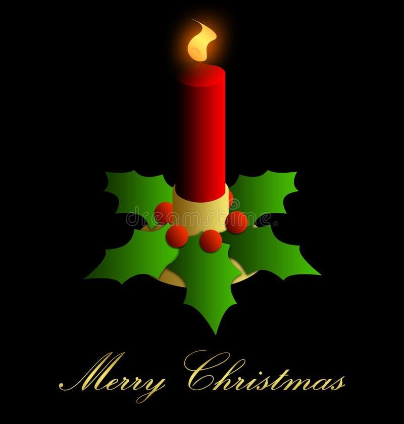 tło świeczki bożych narodzeń wakacje ilustracja wektor